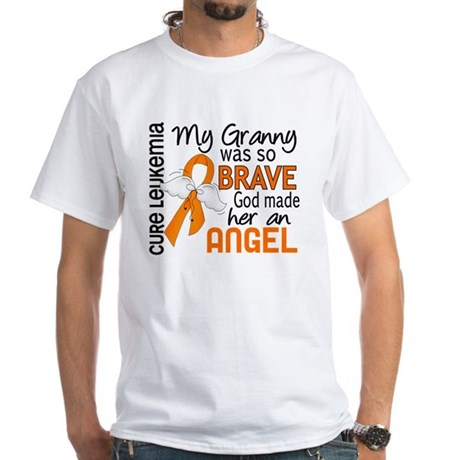 Angel 2 Leukemia White T-Shirt