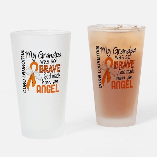 Angel 2 Leukemia Drinking Glass