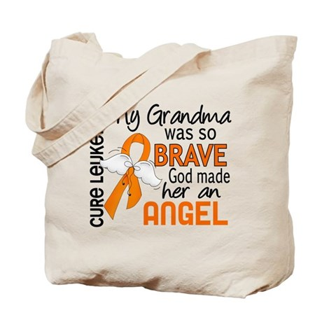 Angel 2 Leukemia Tote Bag