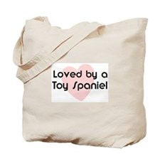 Loved by a Toy Spaniel Tote Bag