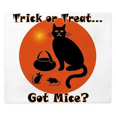 Got Mice Halloween Cat King Duvet