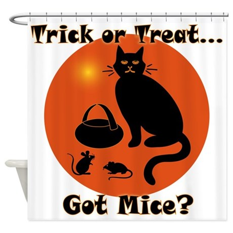Got Mice Halloween Cat Shower Curtain