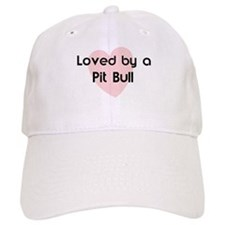 Loved by a Pit Bull Baseball Cap