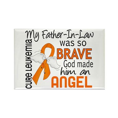 Angel 2 Leukemia Rectangle Magnet (100 pack)