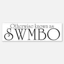 SWMBO Bumper Bumper Sticker