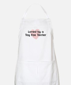 Loved by a Toy Fox Terrier BBQ Apron