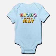 Billy is Due in May Infant Bodysuit