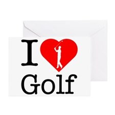 I Love Golf Greeting Cards (Pk of 20)