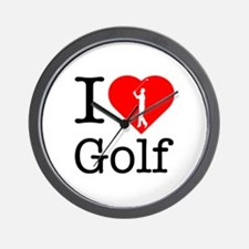 I Love Golf Wall Clock