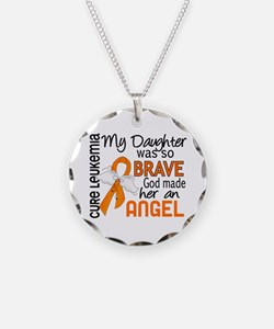 Angel 2 Leukemia Necklace