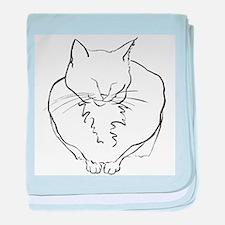 Contented Cat baby blanket