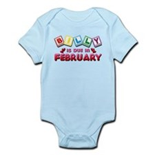 Billy is Due in February Infant Bodysuit