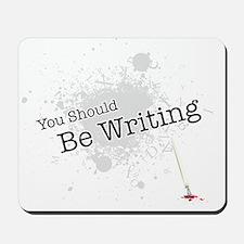 You should be writing Mousepad