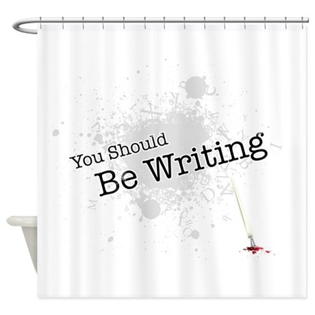 Shower Curtains With Writing Shower Curtains with Books