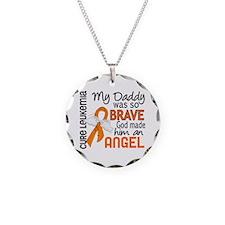 Angel 2 Leukemia Necklace