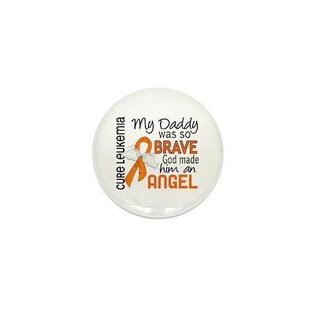 Angel 2 Leukemia Mini Button (10 pack)