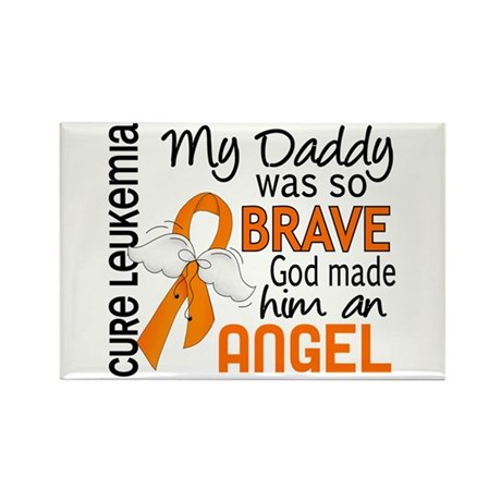 Angel 2 Leukemia Rectangle Magnet (100 pack)