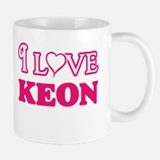 I Love Keon Mugs