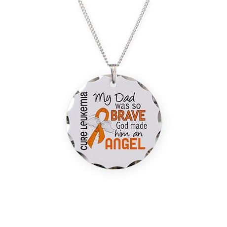 Angel 2 Leukemia Necklace Circle Charm