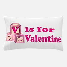 V is for Valentine Pillow Case