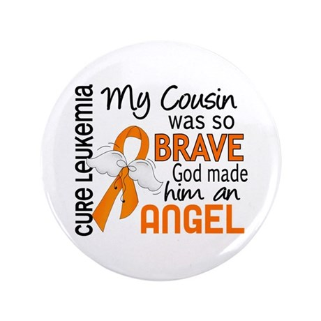"Angel 2 Leukemia 3.5"" Button (100 pack)"