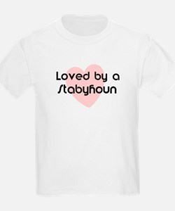 Loved by a Stabyhoun Kids T-Shirt