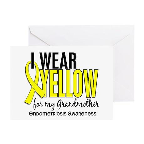 I Wear Yellow 10 Endometriosis Greeting Cards (Pk