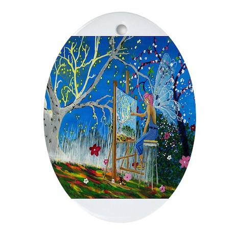 Fairy Artist Ornament (Oval)