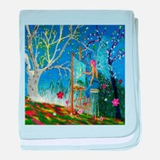 Fairy Artist baby blanket