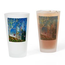 Fairy Artist Drinking Glass