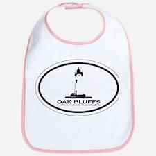 Oak Bluffs MA - Oval Design. Bib