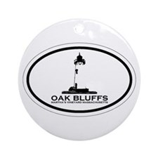 Oak Bluffs MA - Oval Design. Ornament (Round)