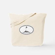 Oak Bluffs MA - Oval Design. Tote Bag