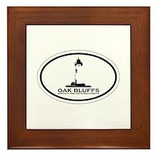 Oak Bluffs MA - Oval Design. Framed Tile
