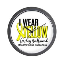 I Wear Yellow 10 Endometriosis Wall Clock