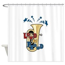 Tuba - Loud Proud Shower Curtain