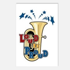 Tuba - Loud Proud Postcards (Package of 8)
