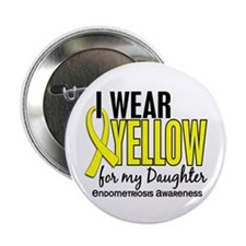 "I Wear Yellow 10 Endometriosis 2.25"" Button"