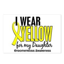I Wear Yellow 10 Endometriosis Postcards (Package