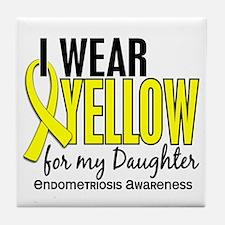 I Wear Yellow 10 Endometriosis Tile Coaster