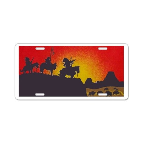 Indians On The Prairie License Plate