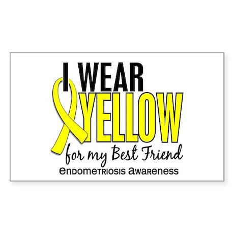 I Wear Yellow 10 Endometriosis Sticker (Rectangle)
