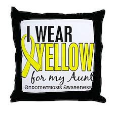 I Wear Yellow 10 Endometriosis Throw Pillow