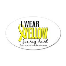 I Wear Yellow 10 Endometriosis 22x14 Oval Wall Pee