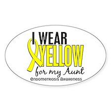 I Wear Yellow 10 Endometriosis Decal