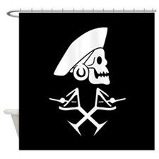 Martini Pirate Shower Curtain