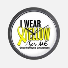 I Wear Yellow 10 Endometriosis Wall Clock