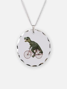 Cycling Tyrannosaurus Rex Necklace