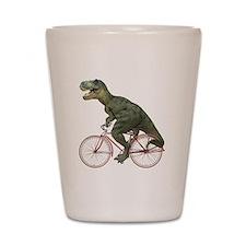 Cycling Tyrannosaurus Rex Shot Glass