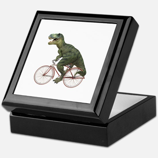 Cycling Tyrannosaurus Rex Keepsake Box